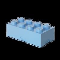 LEGO Brotdose/ Lunchbox, mit acht Noppen, hellblau 001