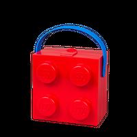 LEGO Lunchbox mit Henkel, vier Noppen, rot 001