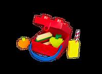 Bild LEGO Lunchbox mit Henkel, vier Noppen, rot Vorschau