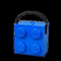 LEGO Lunchbox mit Henkel, vier Noppen, blau