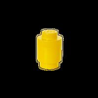 LEGO runde Aufbewahrungsbox, eine Noppe, gelb