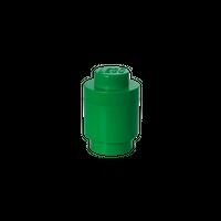 LEGO runde Aufbewahrungsbox, eine Noppe, grün