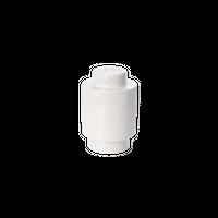 LEGO runde Aufbewahrungsbox, eine Noppe, weiß 001