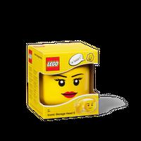 LEGO Aufbewahrungsbox, kleiner Kopf, Mädchen