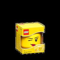 LEGO Aufbewahrungsbox, kleiner Kopf,zwinkerndes  Mädchen 001