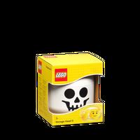 LEGO Aufbewahrungs Kopf Skelett klein 001