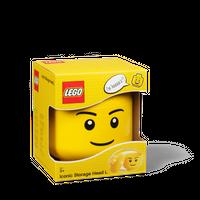 LEGO Aufbewahrungsbox, großer Kopf, Junge