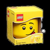 LEGO Aufbewahrungsbox, großer Kopf, alberner Junge 001