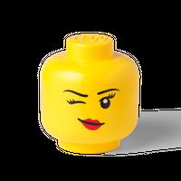 Bild LEGO Aufbewahrungsbox, großer Kopf,zwinkendes Mädchen Vorschau