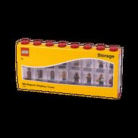 LEGO Minifiguren Display für 16 Figuren, acht Noppen, rot 001