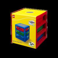 LEGO Schubladenbox mit 3 Schubladen , rot