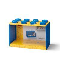 LEGO Wandregal 8 Noppen - blau 001