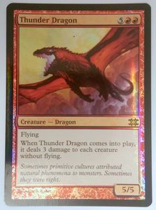 1x Thunder Dragon From the Vault Dragons FOIL ! engl. NM Magic Karte