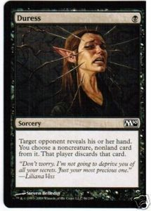 Magic the Gathering : 1x Duress ! M2010 !engl. NM