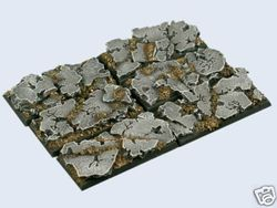 gestaltete Bases : Ruins Bases , Cavalry 25x50mm (4)