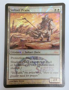 1x Soltari Priest JUNIOR SERIES FOIL ! engl. NM Magic Karte