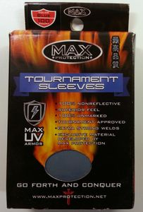 100 Max Protection Tournament Sleeves : Blue