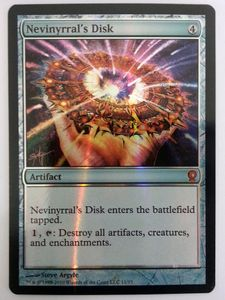 1x Nevinyrral's Disk FOIL ! From the Vault Relics ! engl. NM
