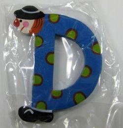 """Sevi Holzbuchstabe """" D """" Clown"""
