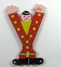 """Sevi Holzbuchstabe """" Y """" Clown"""
