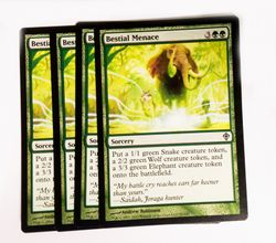 4x Bestial Menace ! Worldwake ! engl. NM