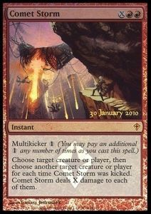 1x Comet Storm PRERELEASE PROMO FOIL ! engl. NM Magic MtG