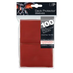 Ultra Pro Deck Protector Sleeves Red (100) (66x91mm)