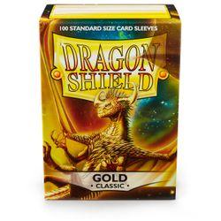 100 Dragon Shield Card Sleeves / Hüllen (Goldfarben) – Bild 1