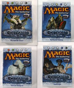 Magic the Gathering: alle 4 Coldsnap Theme Decks engl.