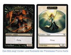1x Angel / Demon Token Prerelease Promo ! engl. NM