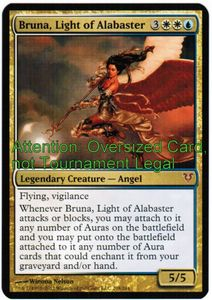 1x Bruna, Light of Alabaster PRE Promo OVERSIZED ! engl. NM