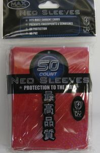 50 Max Protection FOIL Sleeves : Neo Red Protectors