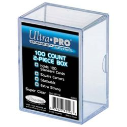 2-Piece 100 Count Clear Card Storage Box - Ultra Pro #81156