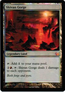 1x Shivan Gorge ! From the Vault Realms FOIL ! engl. NM