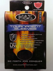 100 Max Protection Tournament Sleeves : Navy
