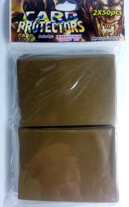 100 Card Way Card Protectors Sleeves - von Trendus - Cardway Farbe: Gold