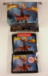 Magic 2014 - 80 Ultra Pro Sleeves + Deckbox Set - Flames of Chandra