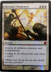 1x Akroma's Vengeance ! From the Vault 20 Twenty FOIL ! engl. NM Magic