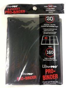 Ultra Pro -  Pro Binder 4-Pocket Black Tauschordner