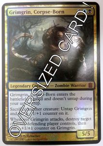 1x Grimgrin, Corpse Born - Commanders Arsenal - OVERSIZED engl. NM