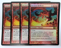 4x Ancient Hellkite PRERELEASE FOIL PROMO engl. NM