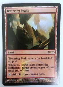 1x Teetering Peaks FRIDAY NIGHT MAGIC FNM PROMO engl. NM – Bild 2