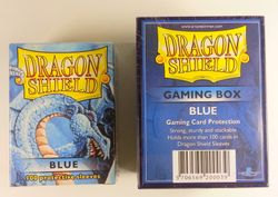 Dragon Shield BUNDLE - Gaming Box + 100 Sleeves - blue - blau