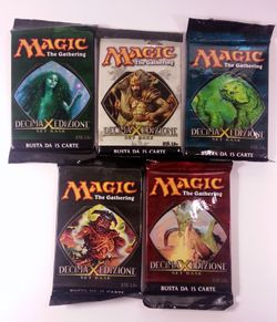 5x 10th Edition Booster italienisch - Magic the Gathering MtG