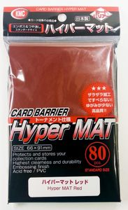 KMC Hyper Mat Red Sleeves / Hyper Matt-Rot (80 Stück)