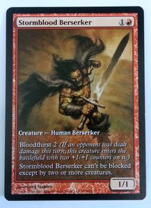 1x Stormblood Berserker Game Day Promo ! engl. NM Magic the Gathering