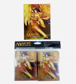 Ultra Pro Bundle - 80 Akroma, Angel of Wrath Sleeves + Deckbox