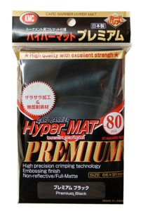 KMC Standard Sleeves - Hyper Mat PREMIUM Black (80) 66x91mm