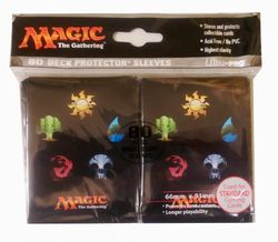 80 Ultra Pro Gallery Sleeves - MANA 5 Magic - Manasymbole