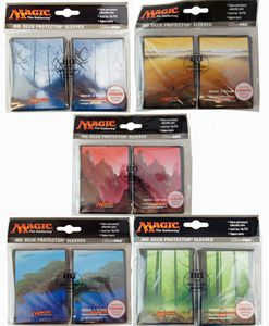 80 Mana 5 Magic MtG Sleeves - Ultra Pro (66x91mm) – Bild 1